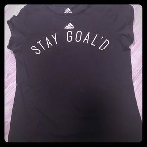 "3 for $20 Girls Adidas ""Stay Goal'd"" T Shirt"